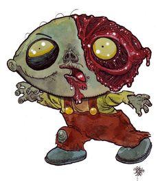 Zombie Art : Stewie Griffin