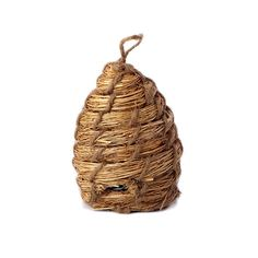 This 3.5 Inch by 5 inch straw bee skep is realistic and a perfect accent to bee theme decorations.