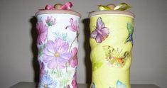 ARTE COM QUIANE -  Paps, Moldes, E.V.A, Feltro e Costuras: Reciclar e decorar latinhas passo a passo