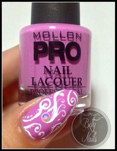 Betty Nails: Mollon Pro 194 - Deseo [acrylic free-hand nailart ]