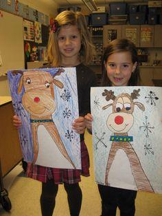 Jamestown Elementary Art Blog: Kindergarten Reindeers