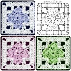 Transcendent Crochet a Solid Granny Square Ideas. Inconceivable Crochet a Solid Granny Square Ideas. Crochet Squares, Crochet Motifs, Granny Square Crochet Pattern, Crochet Blocks, Crochet Diagram, Crochet Stitches Patterns, Crochet Chart, Crochet Granny, Knitting Patterns