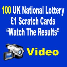100 UK National Lottery Scratch Cards - The Results National Lottery Results, Winning The Lottery, Cards, Maps, Playing Cards