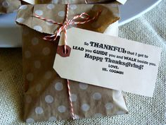 YW Thanksgiving goodie. From Marci Coombs Blog