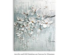 Peinture d'arbre  Blooming fleur fait à la main à l'huile