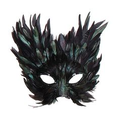 Black Creature Feather Mask ($5.77) ❤ liked on Polyvore featuring masks, accessories, fillers, black and feather