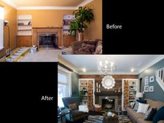 See how Amy Matthews and her crew beat the clock and take rooms from drab to fab in these exclusive before-and-after and behind-the-scenes photos.