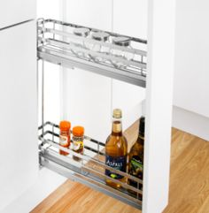 Linea 150mm Base Unit Pull-Out (2 Shelf Baskets) | Supplier - LDL Kitchen and Furniture Fittings & Accessories