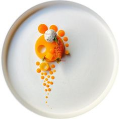 cool Beautiful. Orange. Great plating by @marco_tola_chef.  Tag your best plating pic...by http://dezdemoon-cooking.gdn