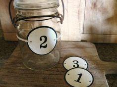 vintage table numbers
