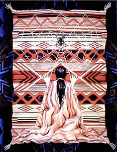 The Hopi Spider Grandmother The Hopi's emergence into the present 4th World. Spider Grandmother caused a hollow reed to grow up into the sky, it emerged in the 4th World at the sipapu/Grand Canyon....