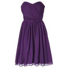 Women's Chiffon Strapless Bridesmaid Bridesmaid Dress Fashion Colors - TEVOLIO�