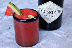 Watermelon Gin Fizz: seedless watermelon, simple syrup, gin, lime ...