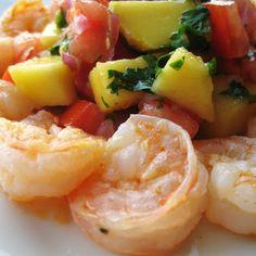 Mango & Tomato: Spicy Shrimp with Mango & Tomato Salsa
