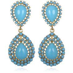 Chain Earrings Kenneth Jay Lane Turquoise Jewelry Statement Costume Princess Jasmine Cgi Jewelery Design Jewels