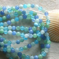 4mm Round Semi Precious Beads Mixed colors (Half strand 50 pieces)