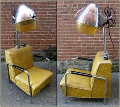 1950's Vintage Mid-Century Modern VEECO Model 400 Adjustable Hair Dryer Chair #Veeco