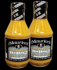 My favorite barbeque sauce - Maurice's Piggy Park (mustard base) Southern Gold B*B*Q* sauce Best Barbecue Sauce, Best Bbq, Easy Dinners For Two, Palmetto State, Pulled Pork Recipes, Bbq Grill, Grilling, Good Ole, South Carolina