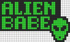 Alien Babe Perler Perler Bead Pattern | Bead Sprites | Misc Fuse ...