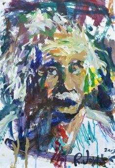 Albert Einstein Garibaldi Poster colorful Painting focal piece Decorative New!