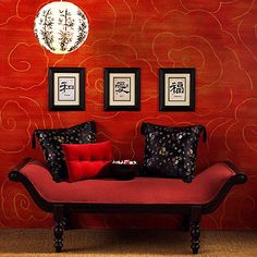 DIY » Asian Inspired Wall { Better Homes & Gardens } this wil be my livingroom theme one day!