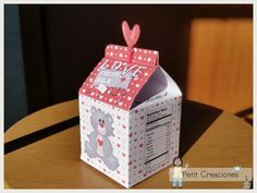 PRINTABLE MILK Carton Love Fresh Milk DIY di PetitCreaciones