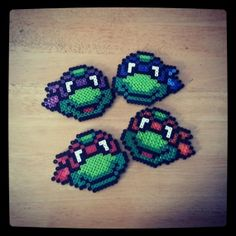 Ninja Turtles Magnets by ManchesterArt on Etsy, $4.00