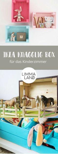DIY Ideen für das Kinderzimmer: Die IKEA KNAGGLIG Box sieht fast aus wie eine Weinkiste und eignet sich prima für einen IKEA Hack für Kinder. Wir zeigen euch in unserem Blog was ihr tolles aus der Holzkiste basteln könnt. Vor allen die Ideen für das Kinde