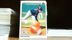 UPPER DECK 1990 BOB STANLEY CARD# 654 BOSTON RED SOX. #BostonRedSox