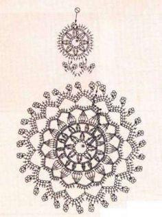 Tempo Libero: news e articoli Crochet Diagram, Freeform Crochet, Crochet Motif, Crochet Doilies, Crochet Stitches, Knit Crochet, Crochet Earrings Pattern, Crochet Jewelry Patterns, Crochet Accessories