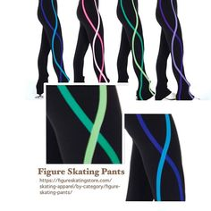 Jerryskate S130 Ribbon Figure Skating Pants ✅ https://figureskatingstore.com/skating-apparel/by-category/figure-skating-pants/ Ribbon Pants – Black fleece legging pants with an elastic waist and an hourglass design in complementary accent colours along each leg for a long, slim look.  #figureskating #figureskatingstore #figureskates #skating #skater #figureskater #iceskating #iceskater #icedance #ice #skates #pants #iceskates #skatingapparel #skatingpants