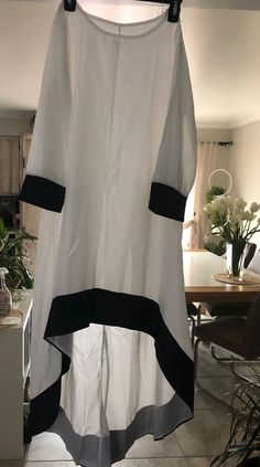 Dress is never been worn, size small, white color , the dress can be see through Stylish Dresses For Girls, Stylish Dress Designs, Designs For Dresses, Casual Dresses, Girls Dresses, Long Dress Fashion, Girls Fashion Clothes, Fashion Dresses, Pakistani Dress Design