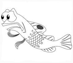 Disegni da colorare per bambini. Colorare e stampa Alla ricerca di Nemo 30