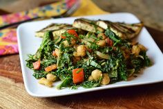 cashew kale with chickpeas