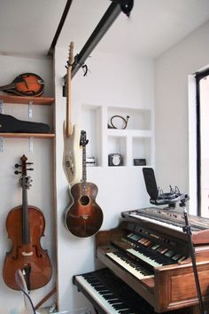 Before And After: How We Made A Music Studio In Our Garage – Ramshackle Glam studio Before And After: How We Turned Our Garage Into A Multi-Functional Living Space – Ramshackle Glam Home Music Rooms, Music Bedroom, Music Studio Room, Home Studio Setup, Cabelo David Beckham, Deco Studio, Recording Studio Design, Interiores Design, Home Decor Ideas