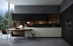 Kitchen scene referenced by Poliform design, rendered with Corona.