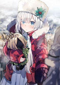 Cute Anime Pics, Anime Girl Cute, Anime Art Girl, Anime Girls, Anime Oc, Hello Winter, Fate Anime Series, Anime Scenery, Tonne