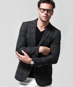 ナノ・ユニバース直営通販サイトjh wool check jacket: レーベルnano・universe ONLINE STORE [ ナノ・ユニバース オンライン ストア ]