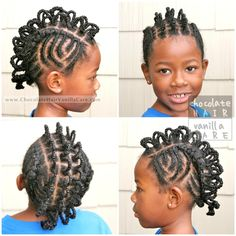 """Box-Braids Wrapped Around Pipe Cleaners for """"Crazy Hair Day"""" 