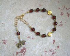 Artio Prayer Bead Bracelet: Gaulish Celtic Goddess of the Bear by HearthfireHandworks on Etsy