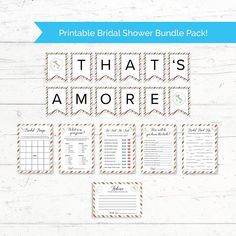 Italian Postcard Travel Bridal Shower Printable Bundle Pack - Italy, That's Amore Banner and 6 Games Printable Banner, Printables, Travel Bridal Showers, Bridal Bingo, Purse Game, Fingerprint Tree, Whats In Your Purse, Greek Wedding, I Work Hard