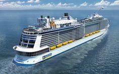 """Quantum of the Seas es el nombre del crucero que Royal Caribbean (www.royalcaribbean.com) botará en otoño de 2014 y que revolucionará la industria de los """"Resorts Flotantes"""" en los océanos. El barco tiene 348 metros de eslora y 41 de manga, 18 cubiertas para una capacidad de 4.180 huéspedes en 2.090 camarotes. Lo que más destaca son las actividades que puedes realizar en la travesía: mirador a 90m de altura, pista de baloncesto, simulador de paracaidismo..."""