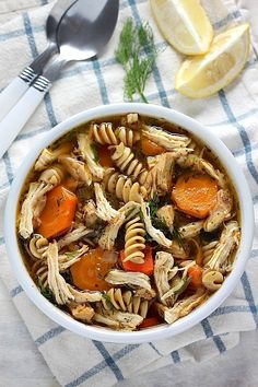 Flu Fighter Chicken Noodle Soup - When you are sick sometimes all you want is a good chicken noodle soup!