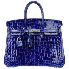 b590ff7eeec Hermès Tote Bag - Birkin 25 Bag Electric Crocodile Jewel Palladium Hardware  Crocodile