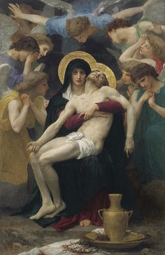 off Hand made oil painting reproduction of Pieta, one of the most famous paintings by William-Adolphe Bouguereau. The French artist William-Adolphe Bouguereau painted one of his most iconi. William Adolphe Bouguereau, Catholic Art, Religious Art, Roman Catholic, Catholic Daily, Catholic Prayers, La Pieta, Art Occidental, Christian Art