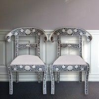Flower mosaic chairs from MOLLYSHOME.COM