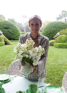 "Summer lunch with Tory Burch, by Noa Griffel, from the book ""Tory Burch In Color"""