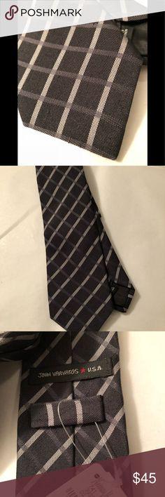 John Varvatos designer gray new tie slim New with tags John Varvatos gray tie. Retail $145. 50% linen 50% silk. Slim John Varvatos Accessories Ties