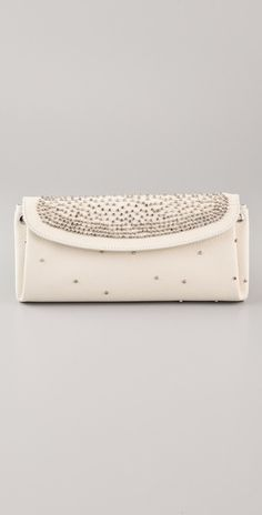 Studded Pebbled Leather clutch by Maison Martin Margiela