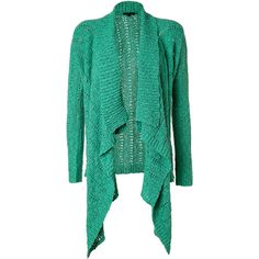 RACHEL ZOE Mint Serafina Cardigan ($335) ❤ liked on Polyvore featuring tops, cardigans, sweaters, outerwear, jackets, textured cardigan, shawl collar cardigan, chevron tops, long sleeve tops and green long sleeve top